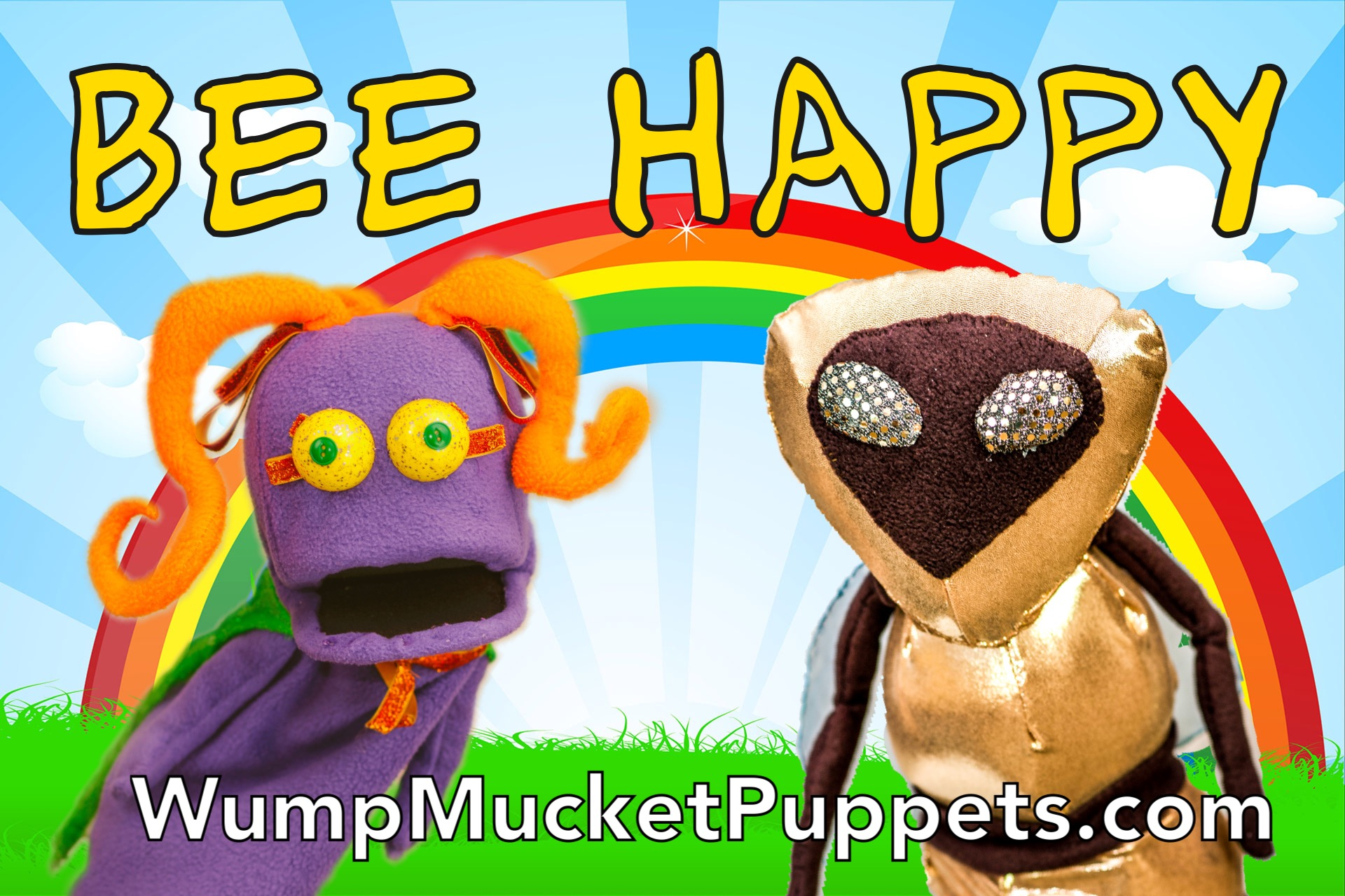 Bee Happy Wump Mucket Puppets