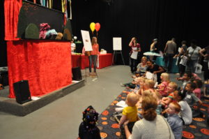 Wump Mucket Puppets performing at CET PBS television station