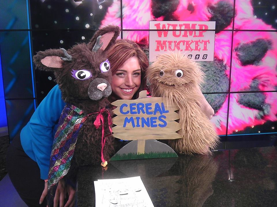 Jacqui the Jackalope  Wump Mucket Puppets with Catherine Bodak at WXIX Fox 19