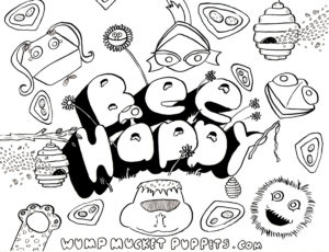 Bee Happy coloring page Mark Neeley