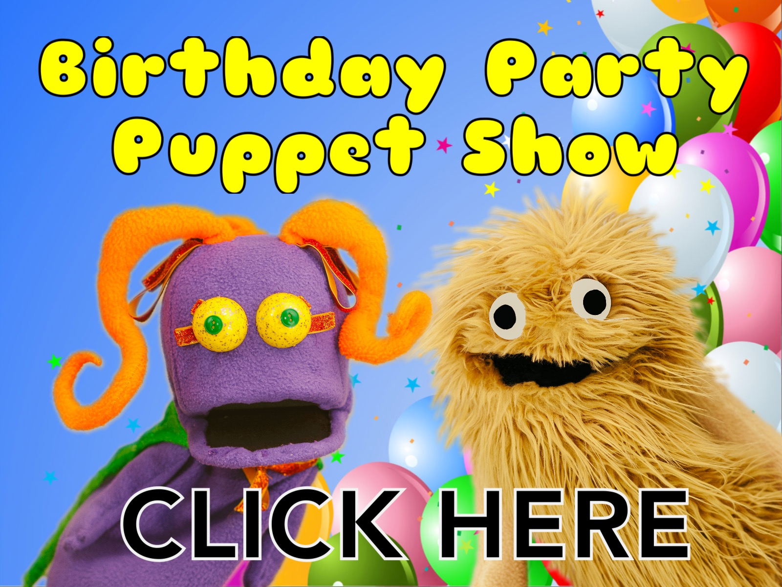 Wump Mucket Puppets Birthday Party Puppet Show