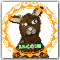 Jacqui the Jackalope Wump Mucket Puppets