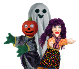 Kooky Spooky Halloween Show Wump Mucket Puppets cast photo