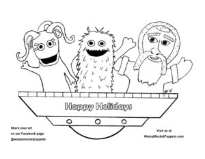 Coloring Pages of the Wump Mucket Puppets characters to color