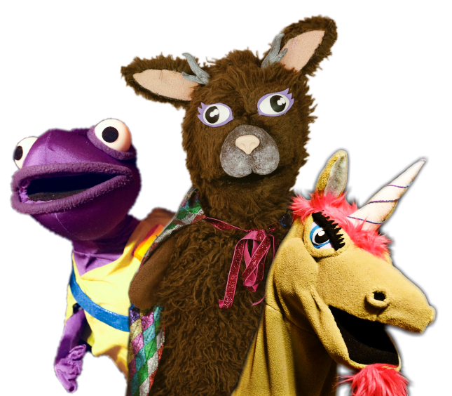 Wump Mucket Puppets Fairly Hairy Tales show