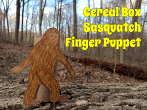 Puppet Crafts for Kids Cereal Box Sasquatch Finger Puppet