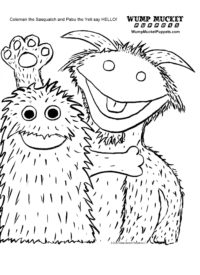 Wump Mucket Puppets Coleman and Pabu coloring page